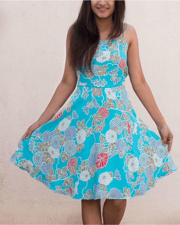 Aqua blue strap dress