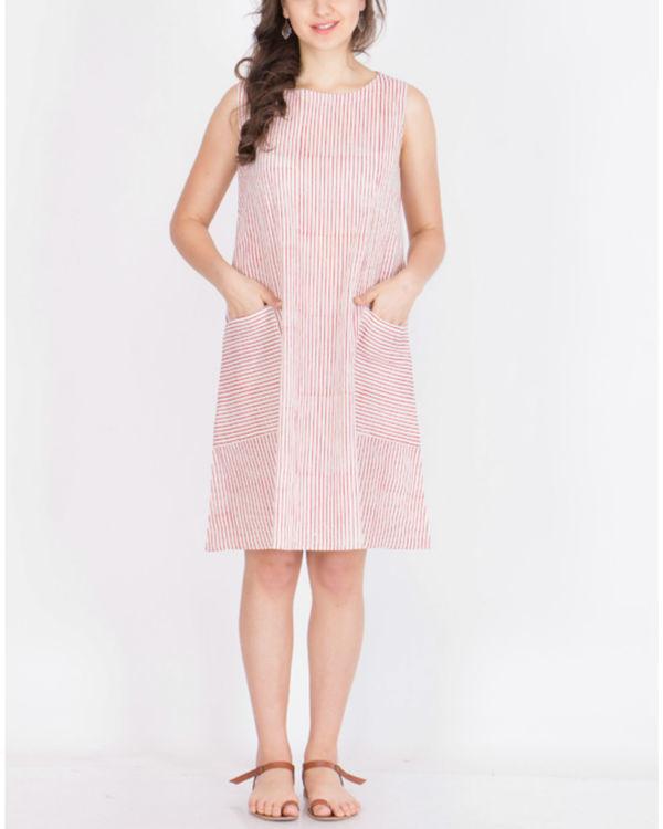 Muslin striped dress
