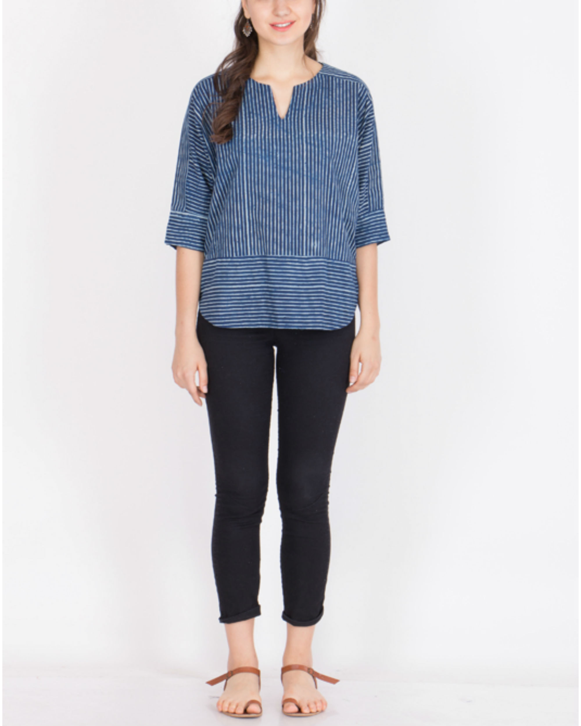 Indigo Striped summer top