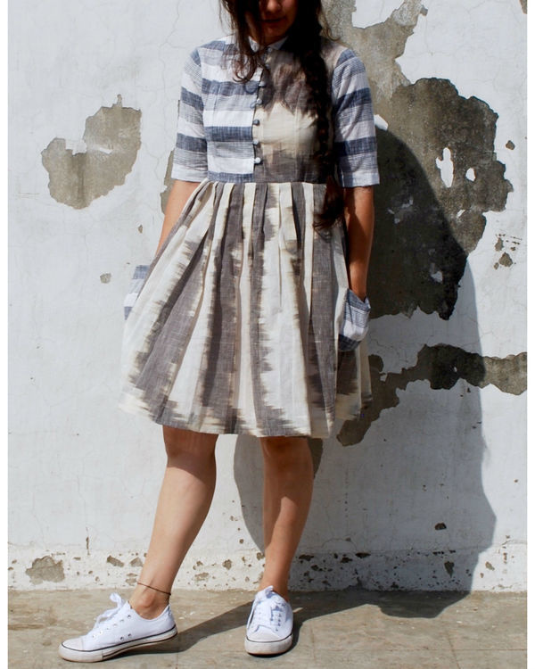 Mangalgiri grey skater dress