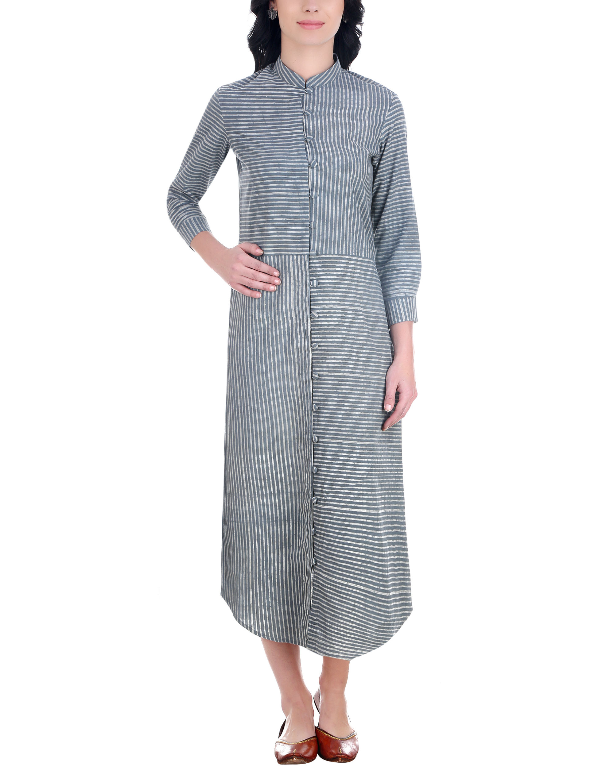 Dabu striped button down tunic