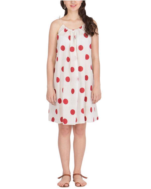 Polka strappy dress
