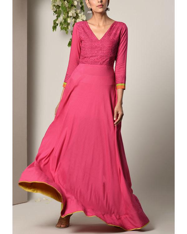 Pink script dress