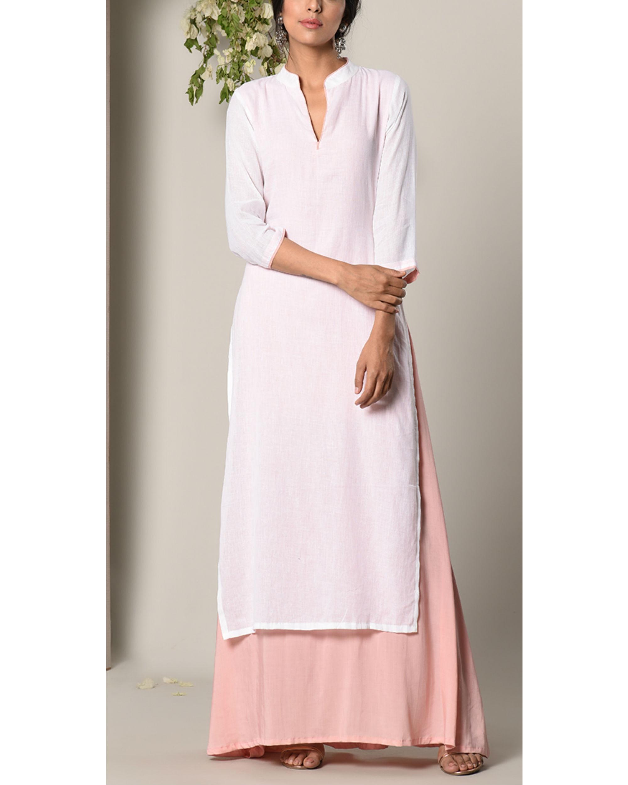 Mud pink layer dress