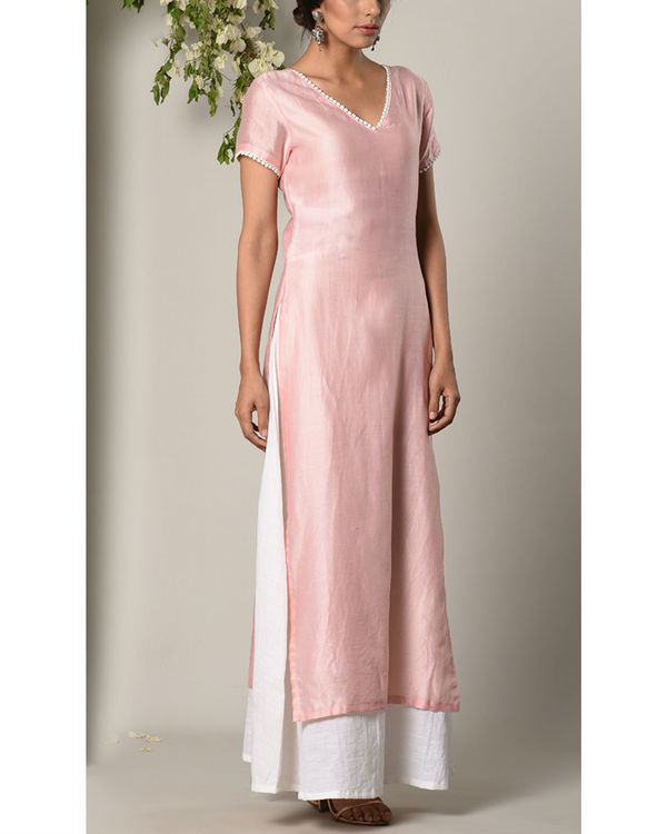 Rose pink layer dress