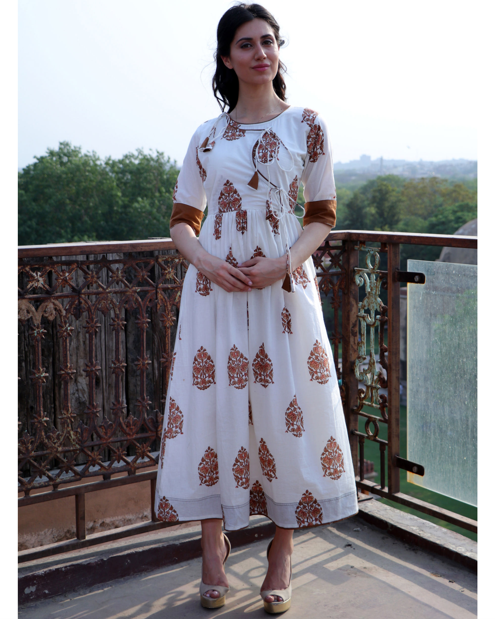 Cinnamon angrakha dress
