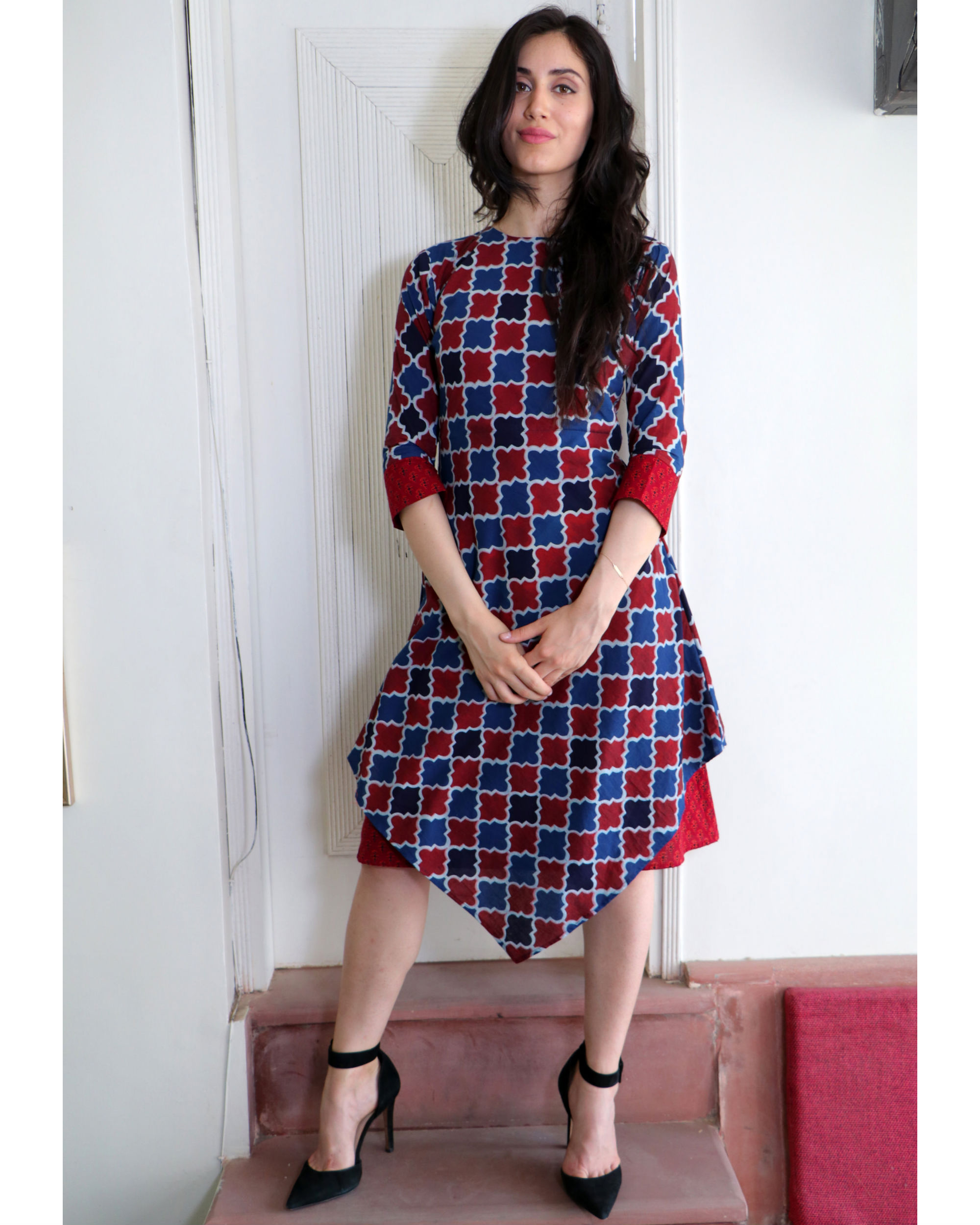 Block layered dress