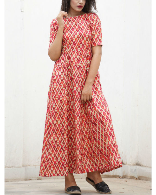Red checkered maxi