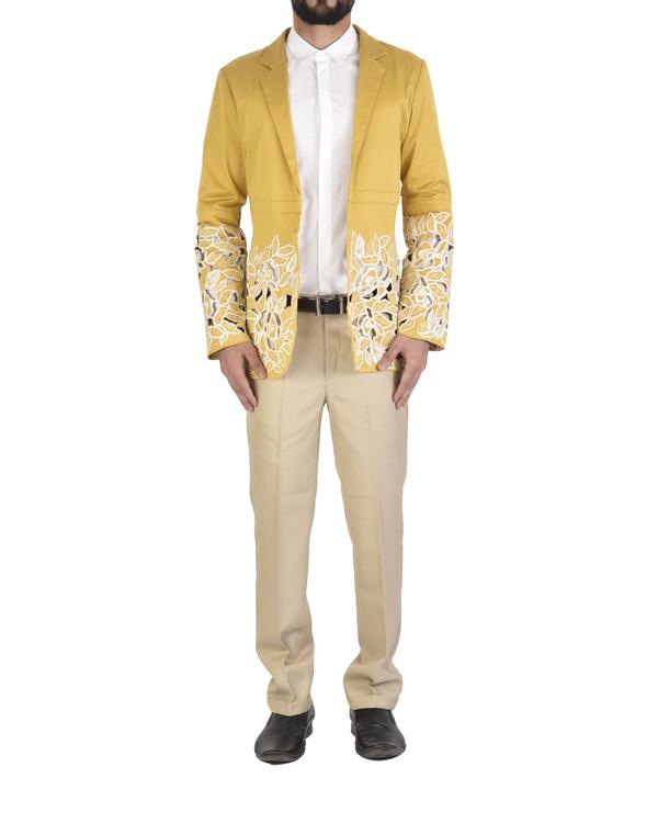 Ochre cutout blazer