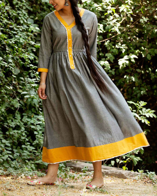 Ash grey summer dress