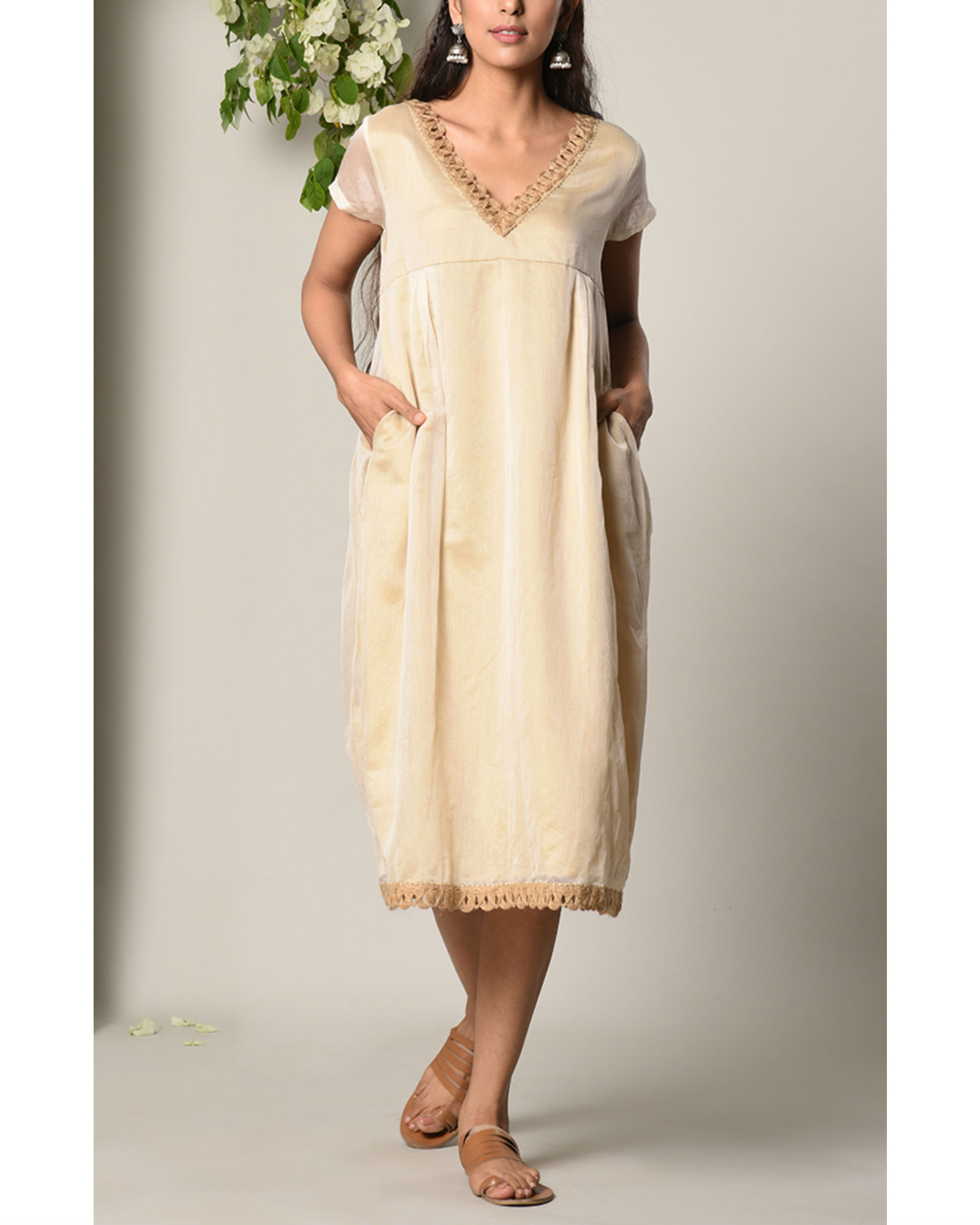 Ivory sufi jute dress