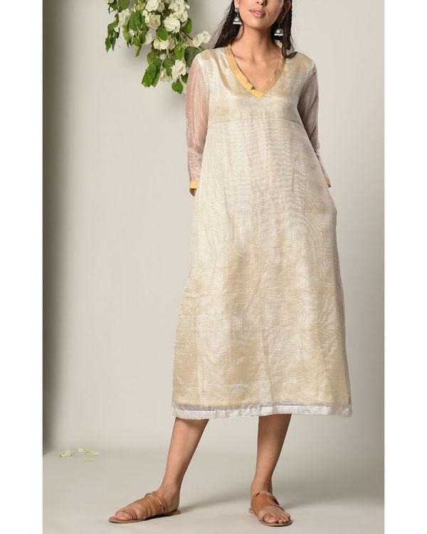 Ivory kota silk dress