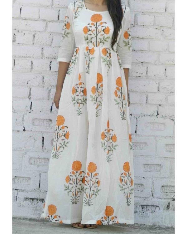 Tangerine floral maxi