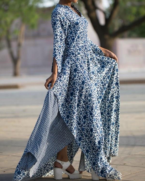 Rayon asymmetrical dress