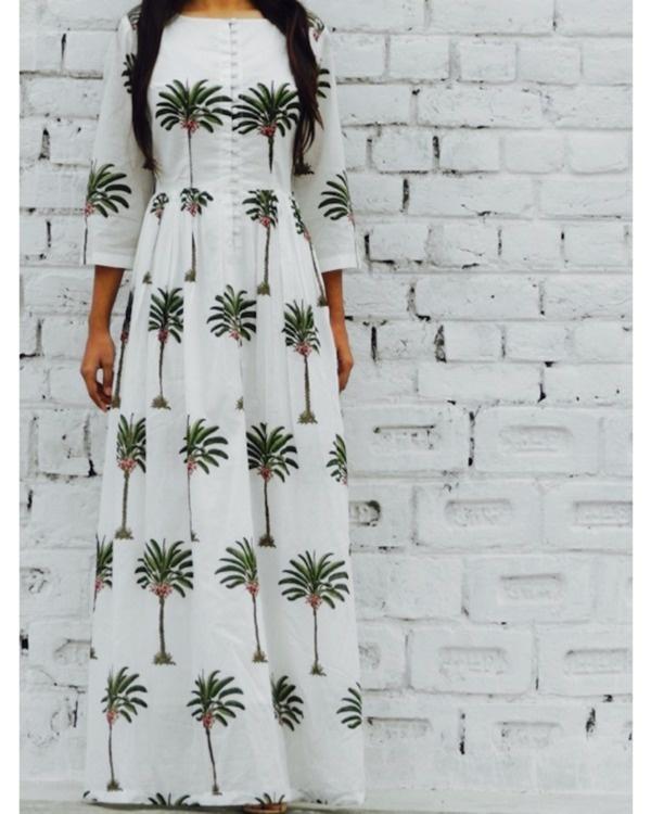 Palm print maxi