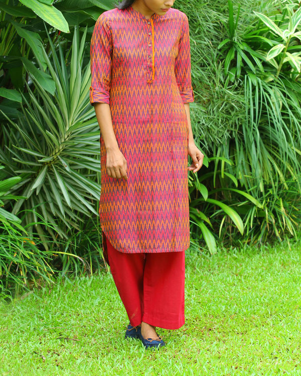 Red ikat tunic