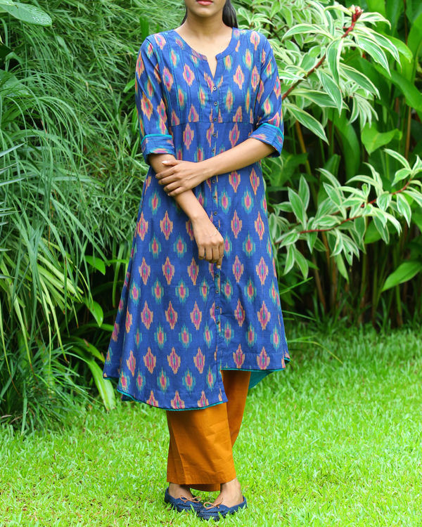 Royal blue ikat tunic