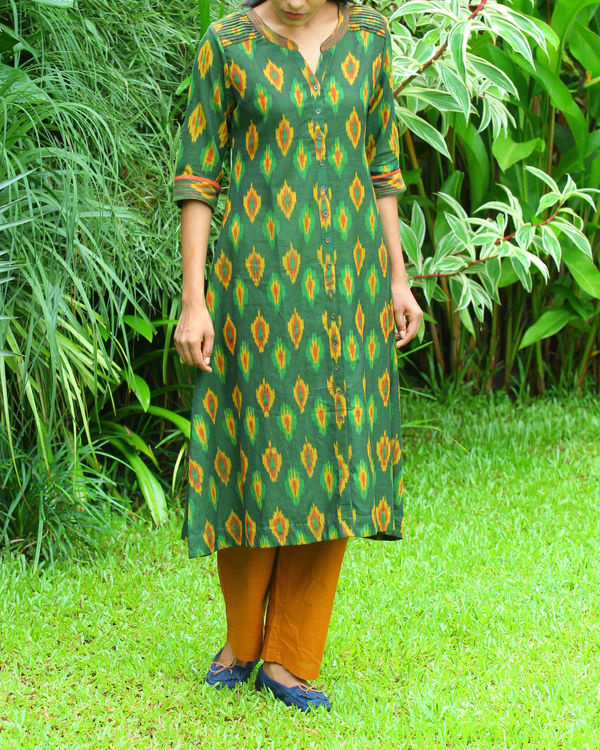 Green ikat tunic