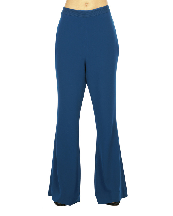 Celestial blue flared trousers