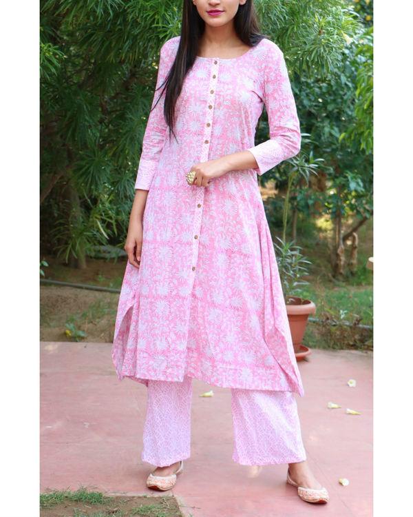 Pink asymmetrical set