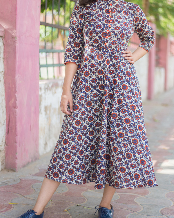 Multi ajrakh dress