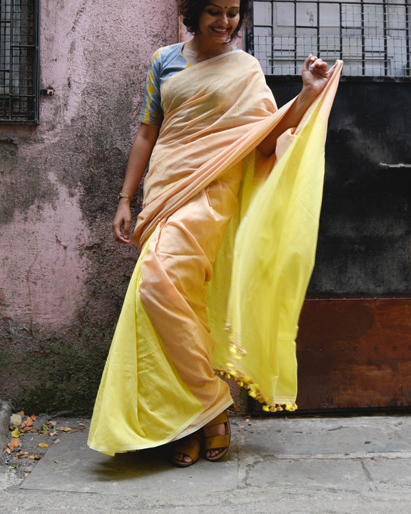 Yellow mellow sari
