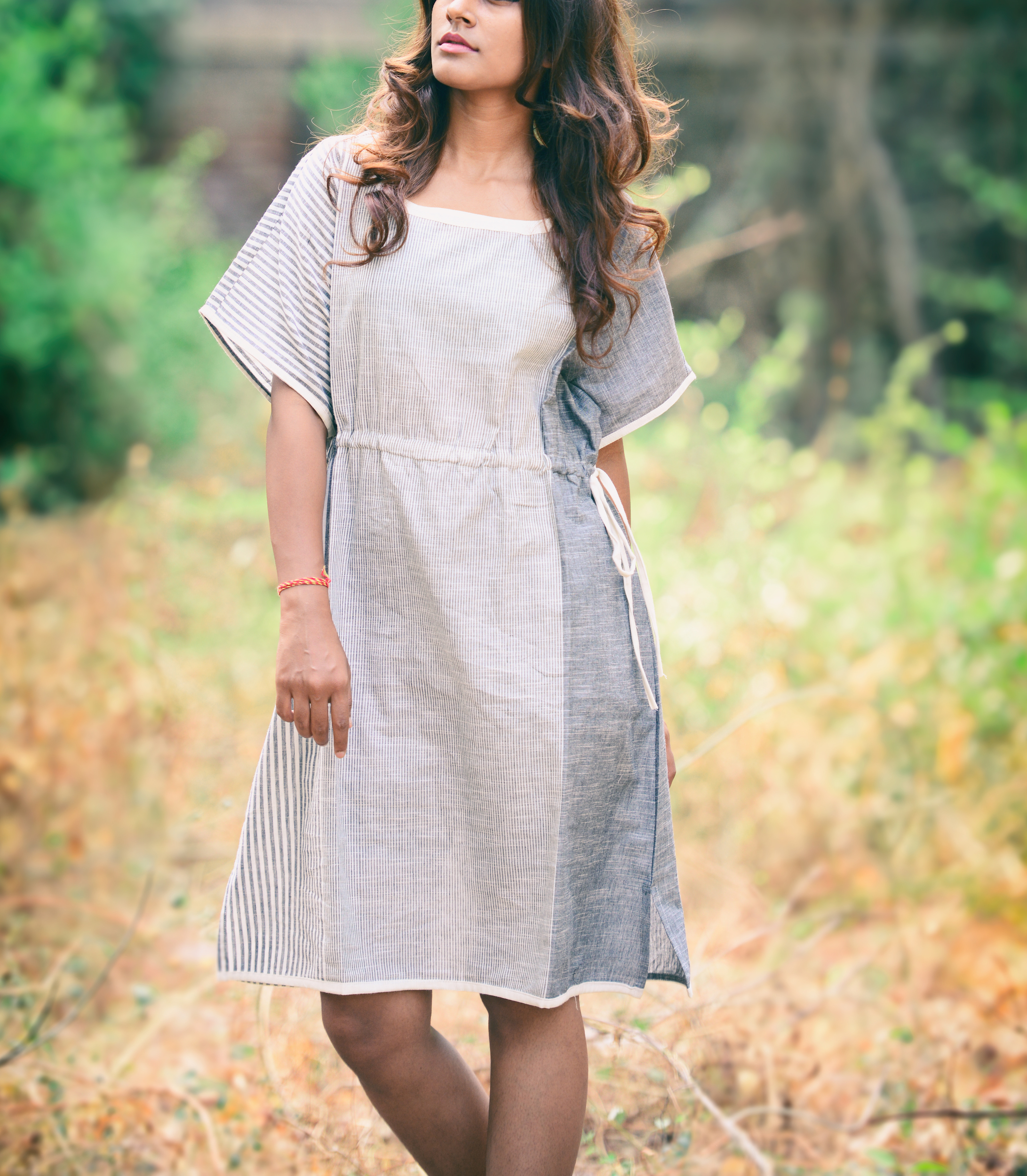 Cloudy side knot dress