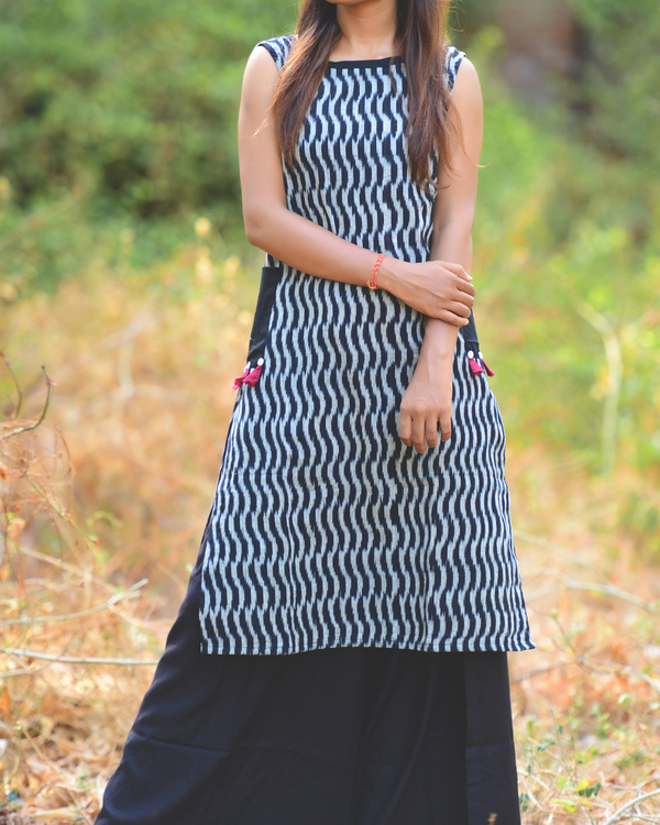 Ikat classic side pocketed tunic