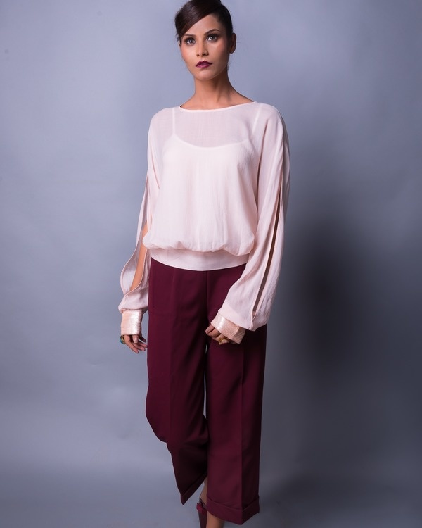 Soft shell back knot blouse