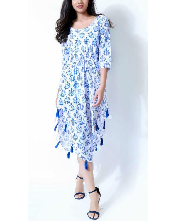 Handkerchief tasseled dress