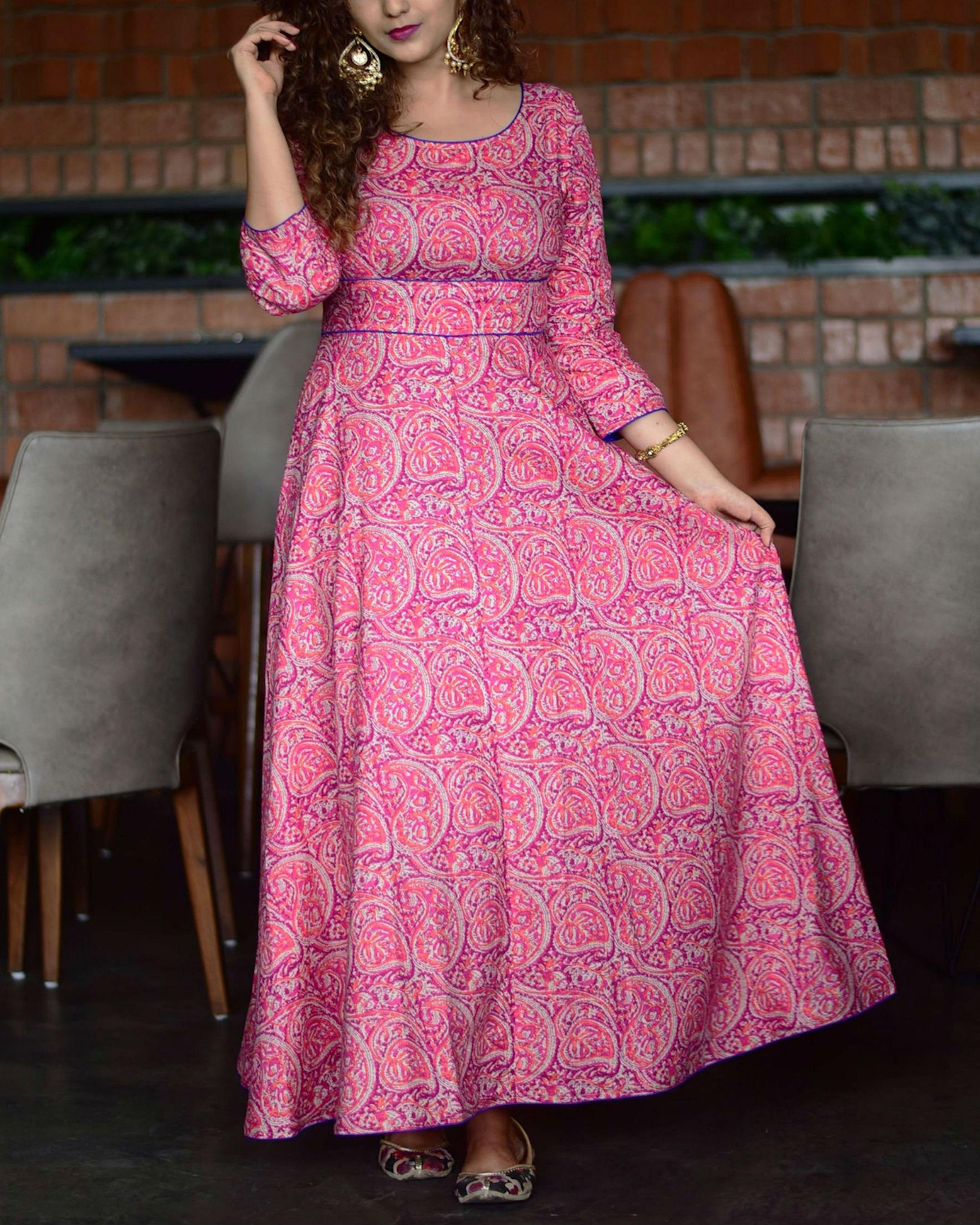 Pink paisley tunic