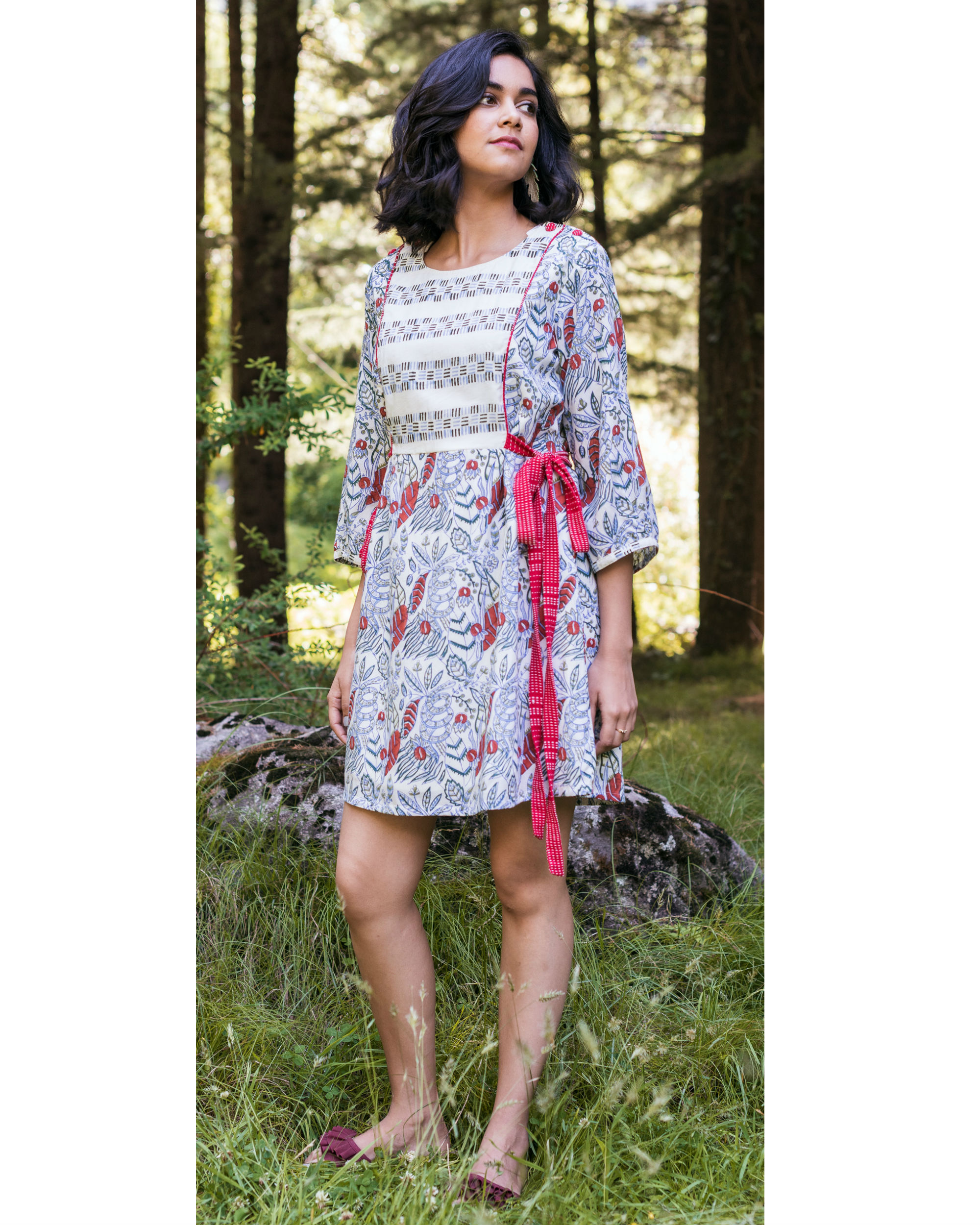 Rainforest tie-up shirt dress