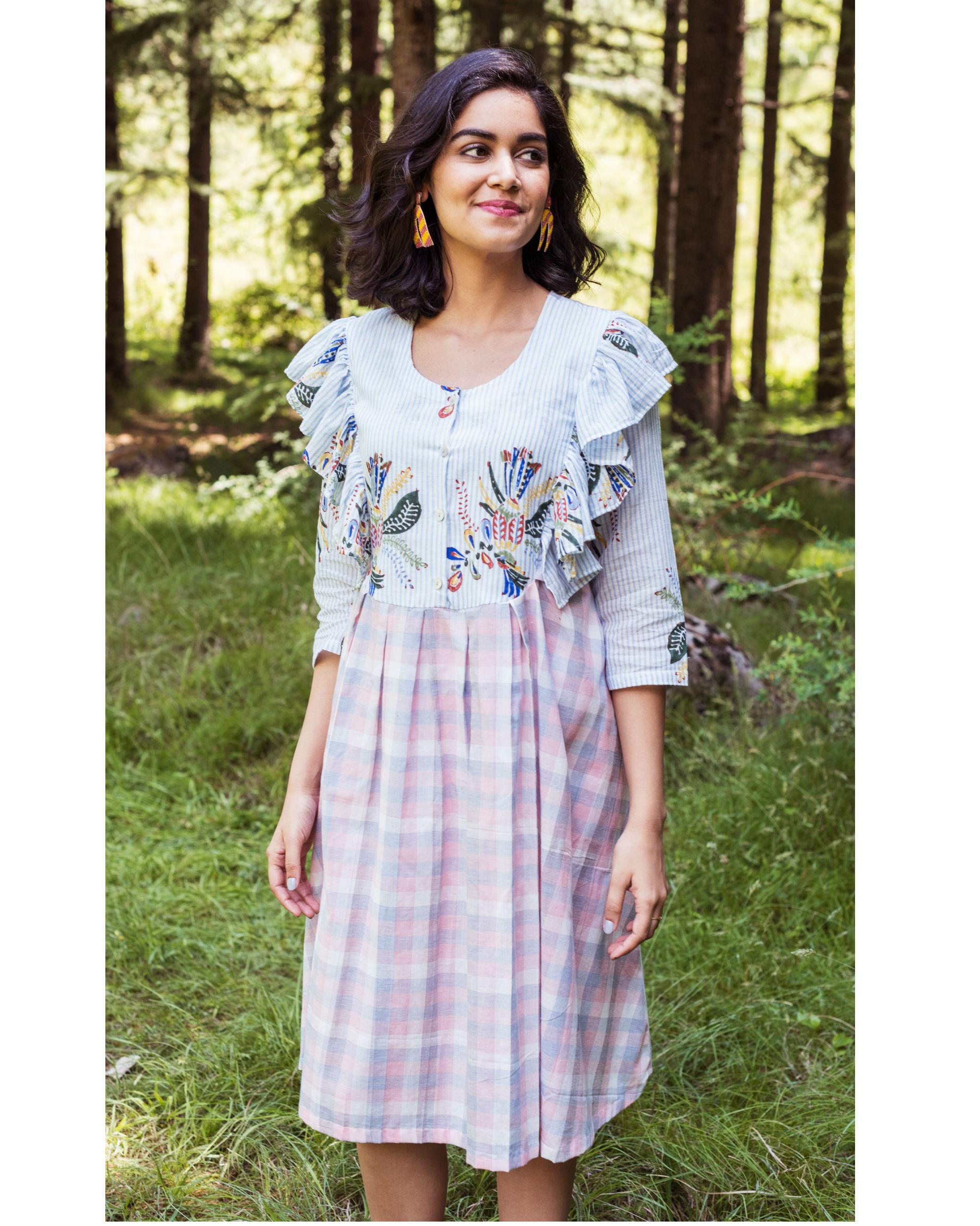 Rainforest peach ruffle dress