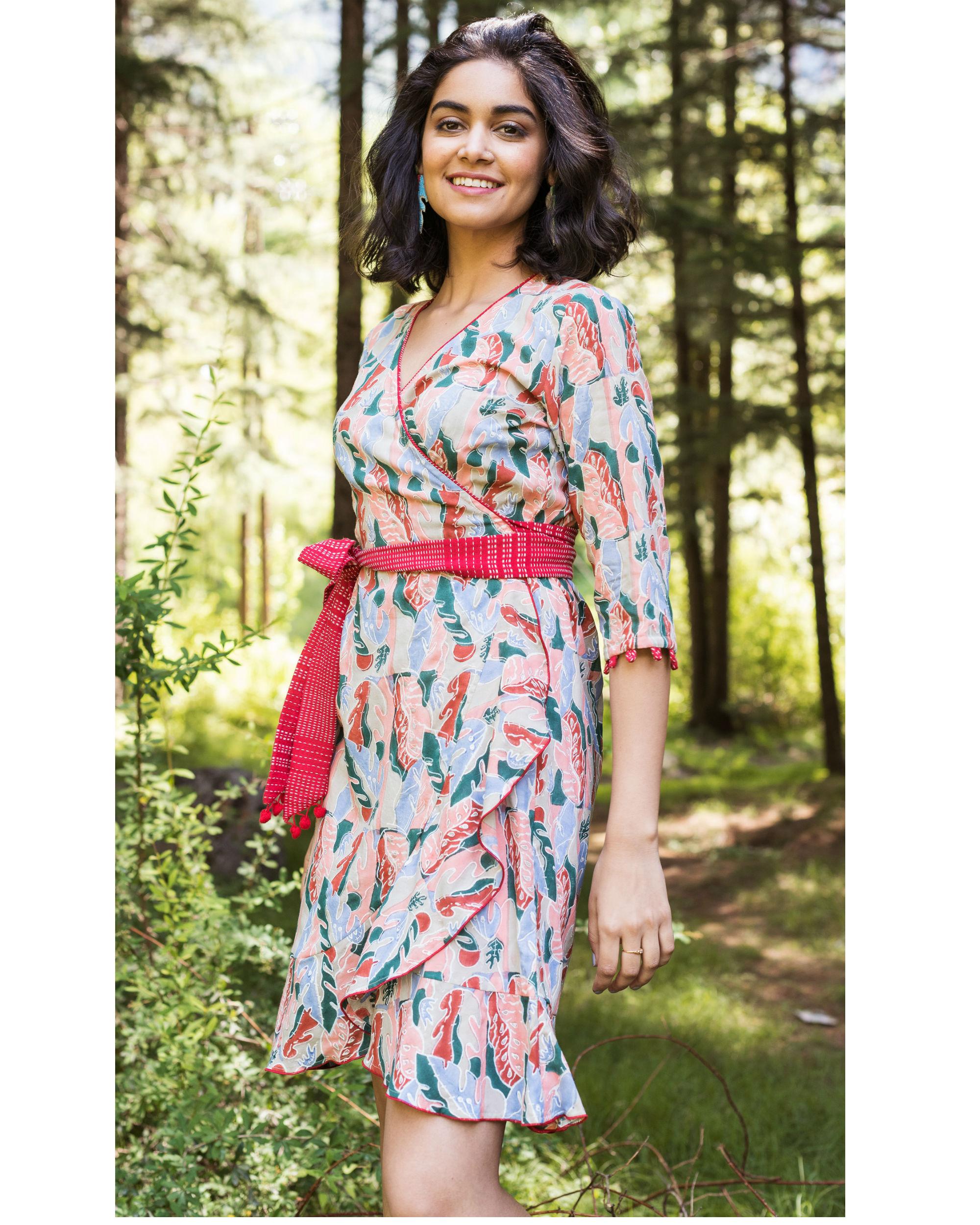Rainforest blush wrap dress