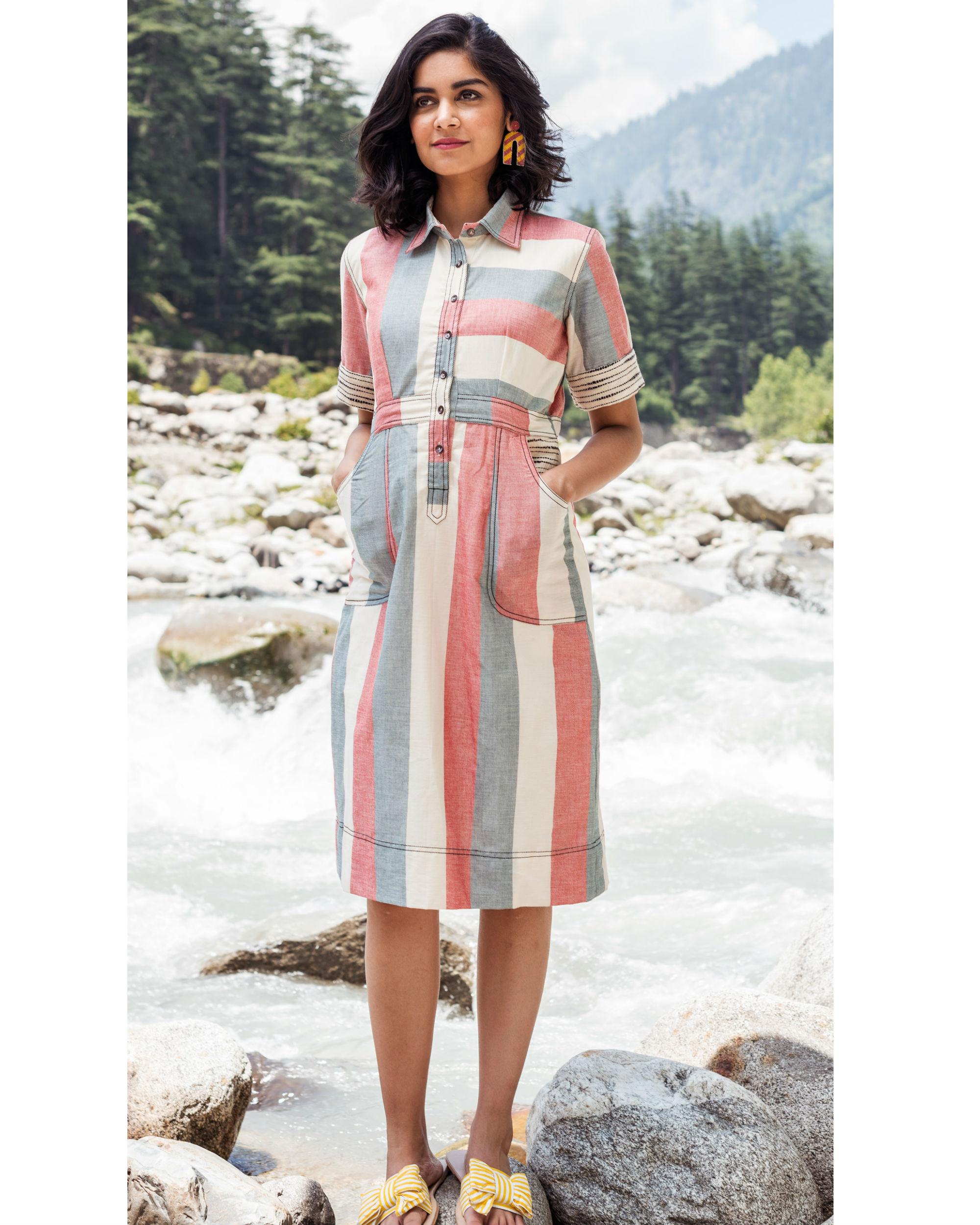 Rainforest striped dress