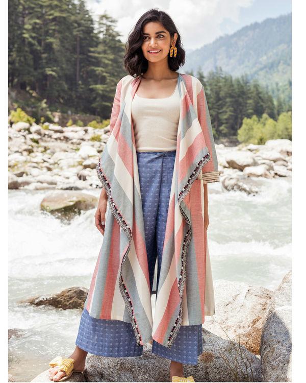 Striped waterfall jacket