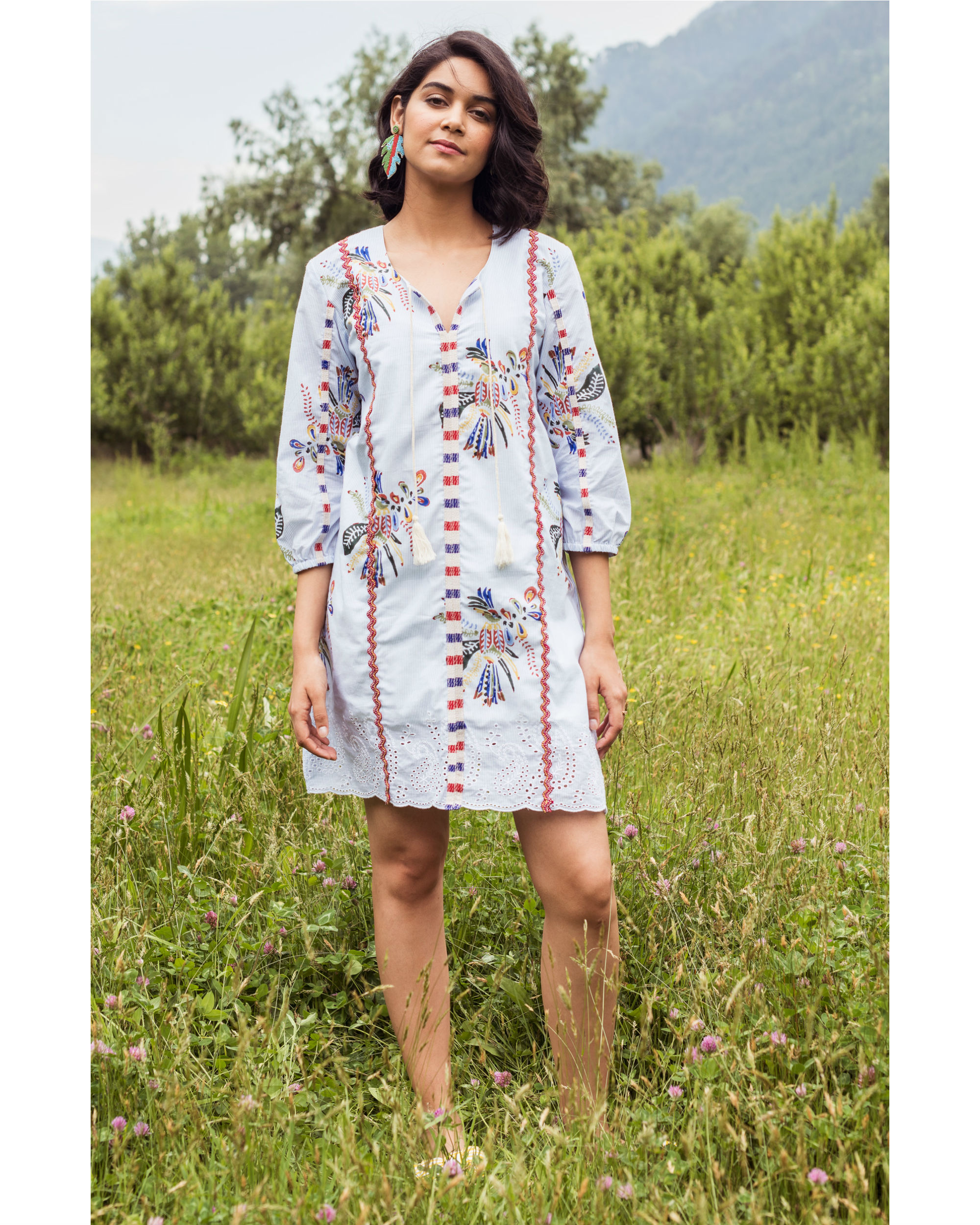 Rainforest paradise hue dress