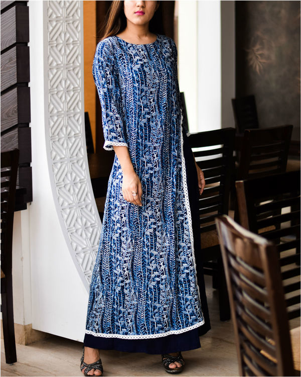Royal blue double layered dress