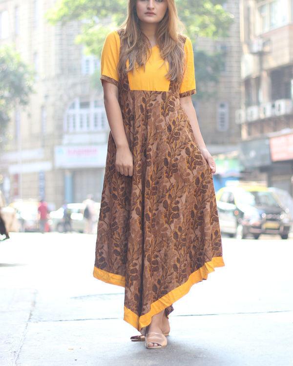 Mustard pinaform dress