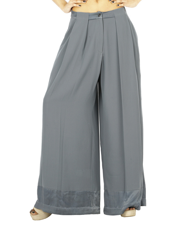 Grey pleat trousers