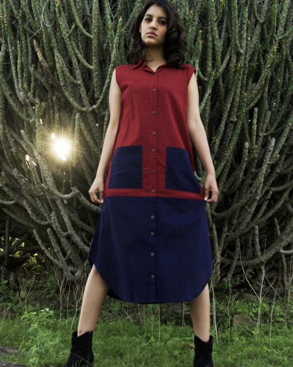 Two pocket shirt dress