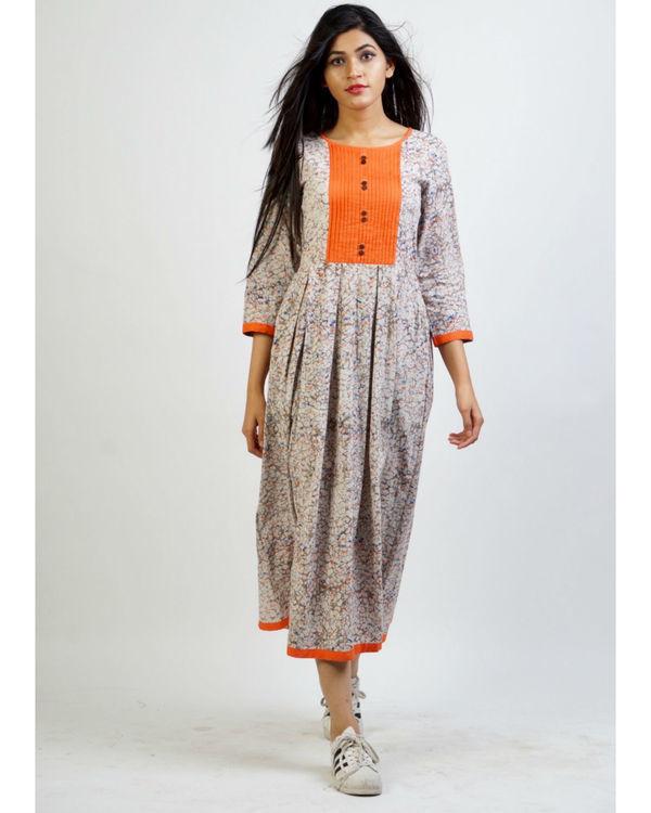 Ash grey panelled dress
