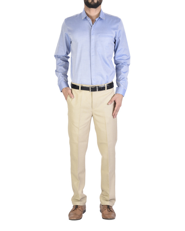 Biscuit formal trousers