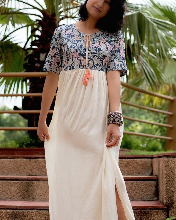 Serene floral summer dress
