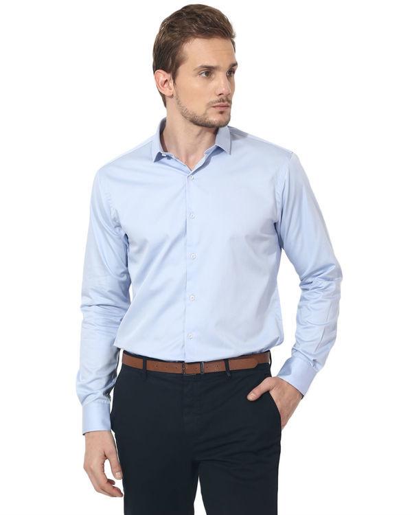 Sky blue solid club wear shirt