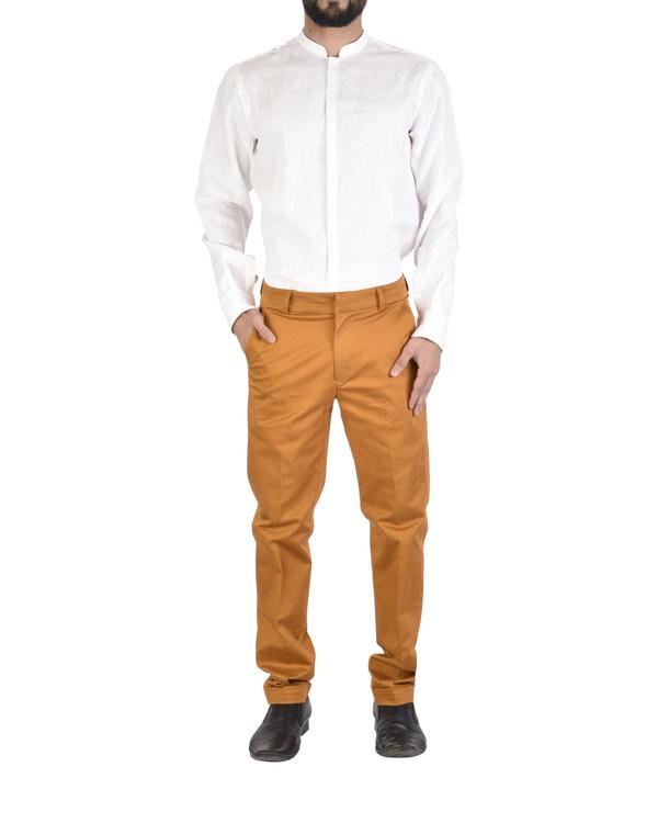 Rust twill trousers