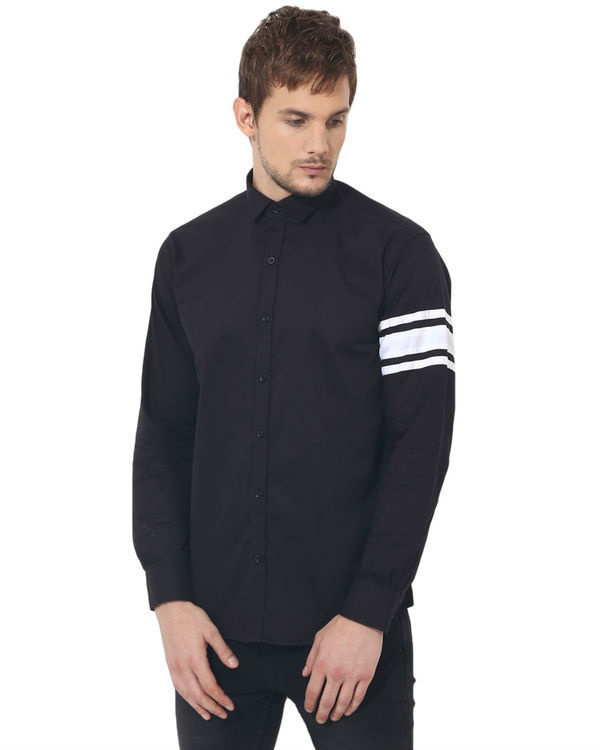 Black sleeve panel club wear shirt
