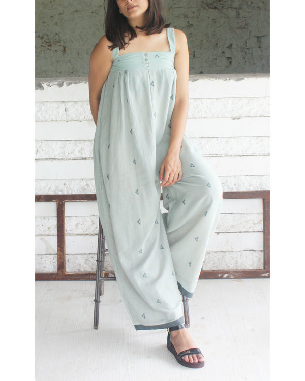 Green flared jumpsuit