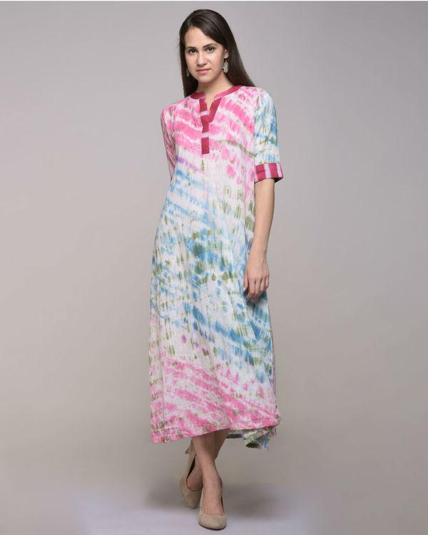 Multi color dress with belt