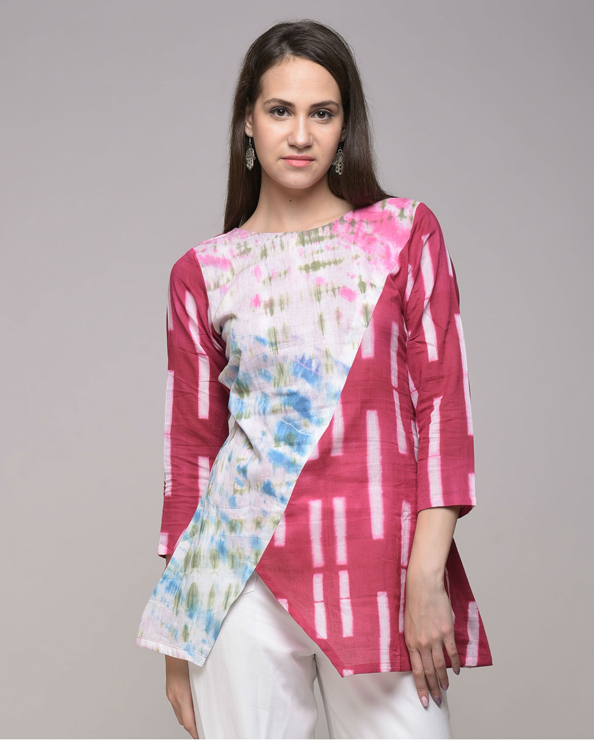 Multi color tunic